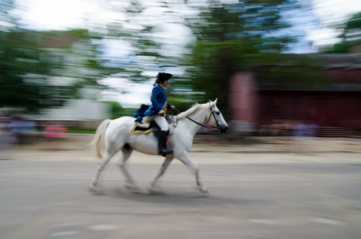 blurry, horse, motion blur