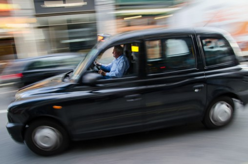 london, motion blur, taxi